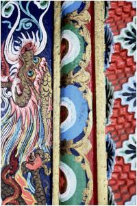Detail at Bhutia Busty Gompa (Monastery)