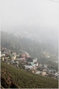 View of Darjeeling and the Happy Valley tea gardens