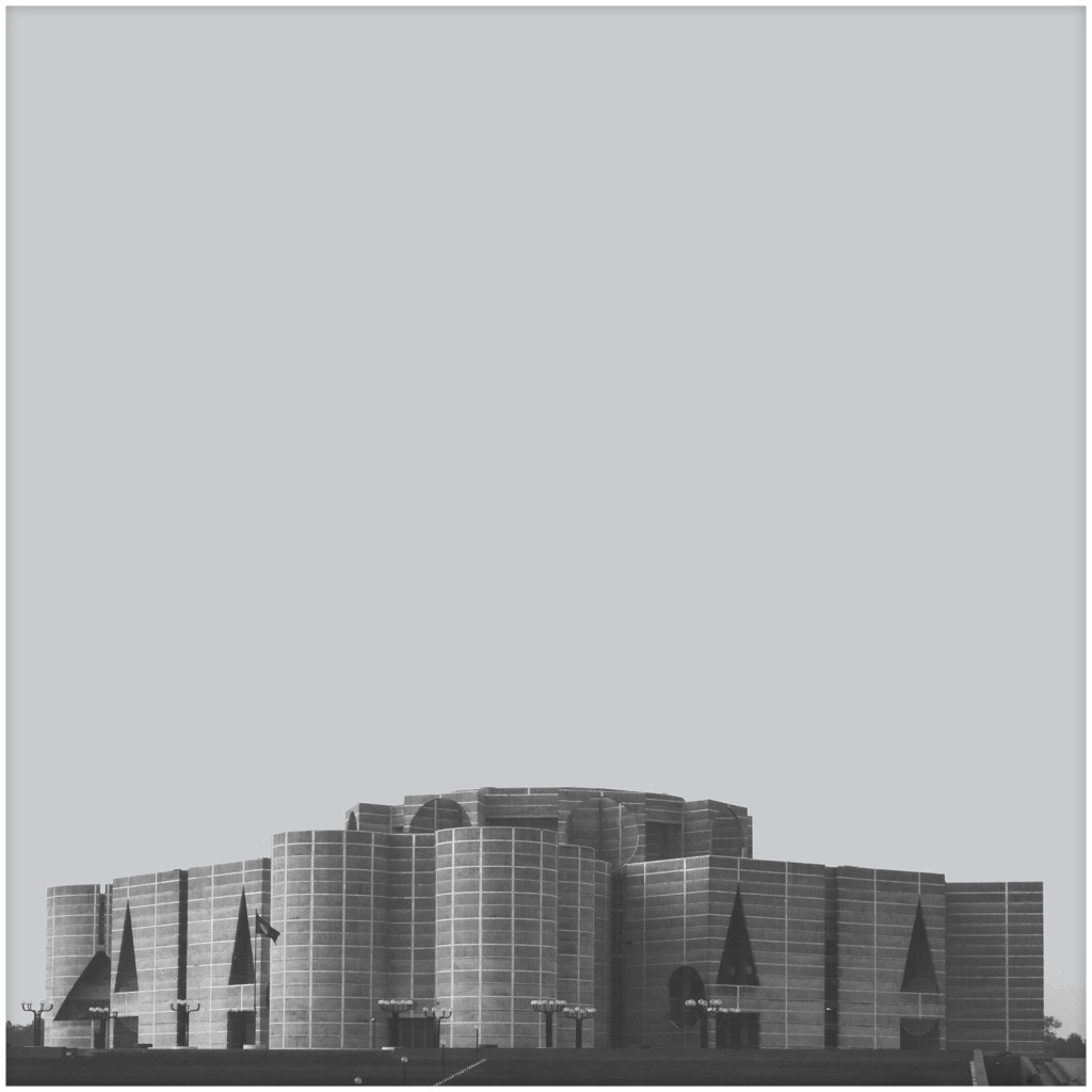 The National Assembly (the parliament) in Dhaka made by Louis Kahn
