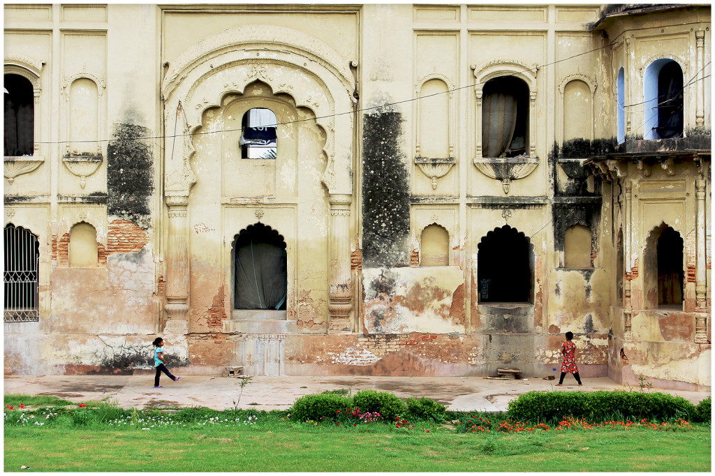 Children playing at the Bara Imambara.