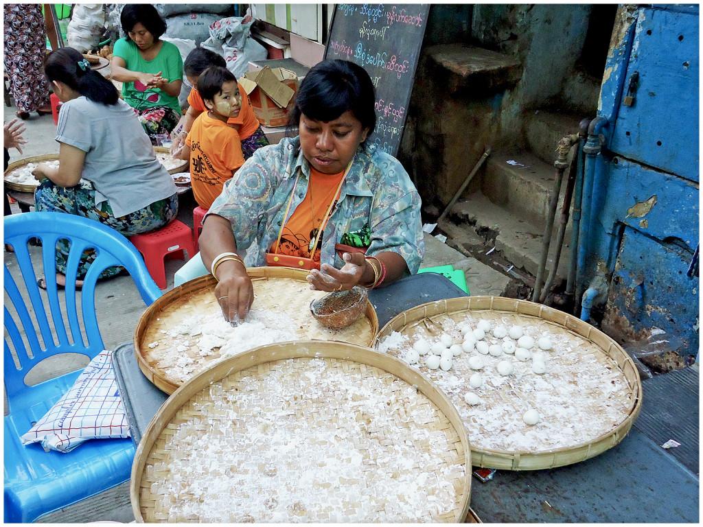 Woman preparing dessert