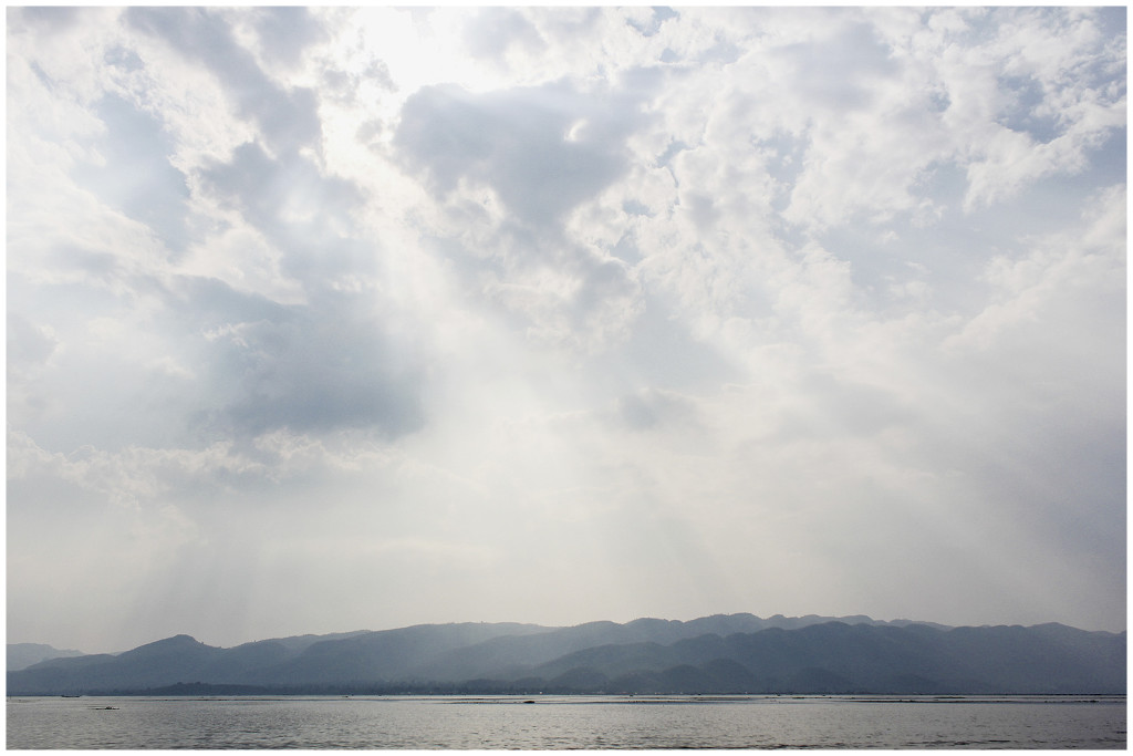 The beautiful mountain range surrounding Inle lake