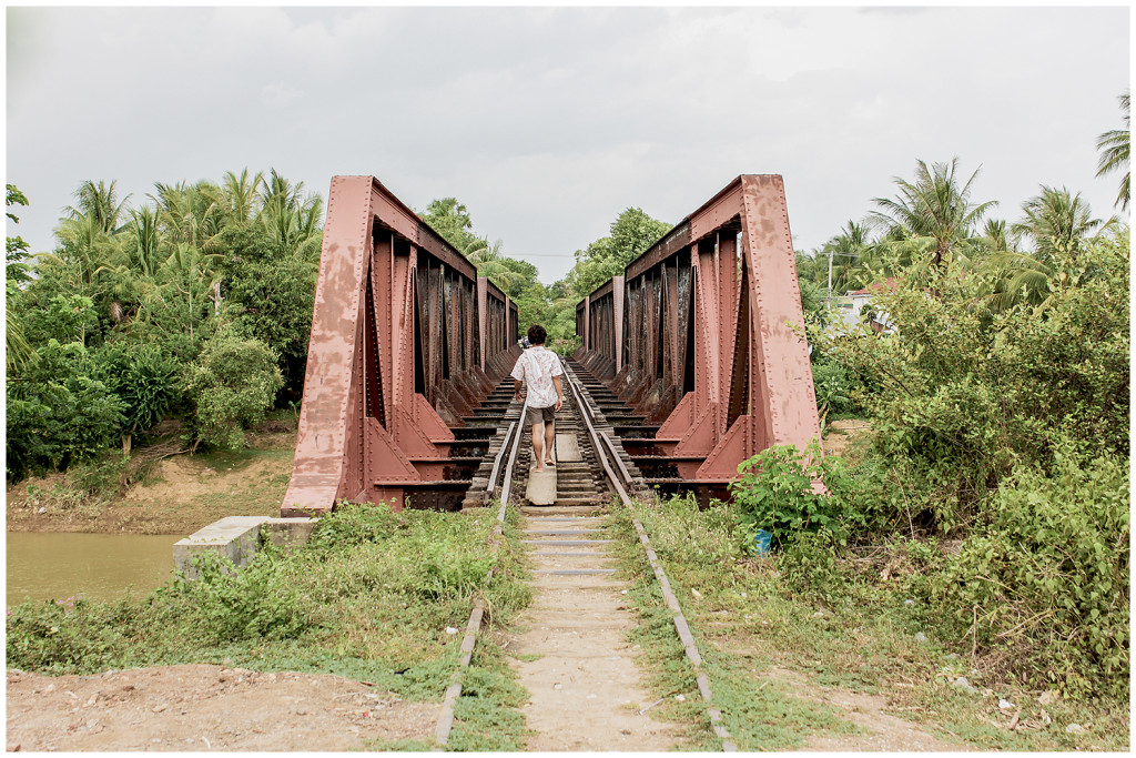 Railroad crossing in Battambang