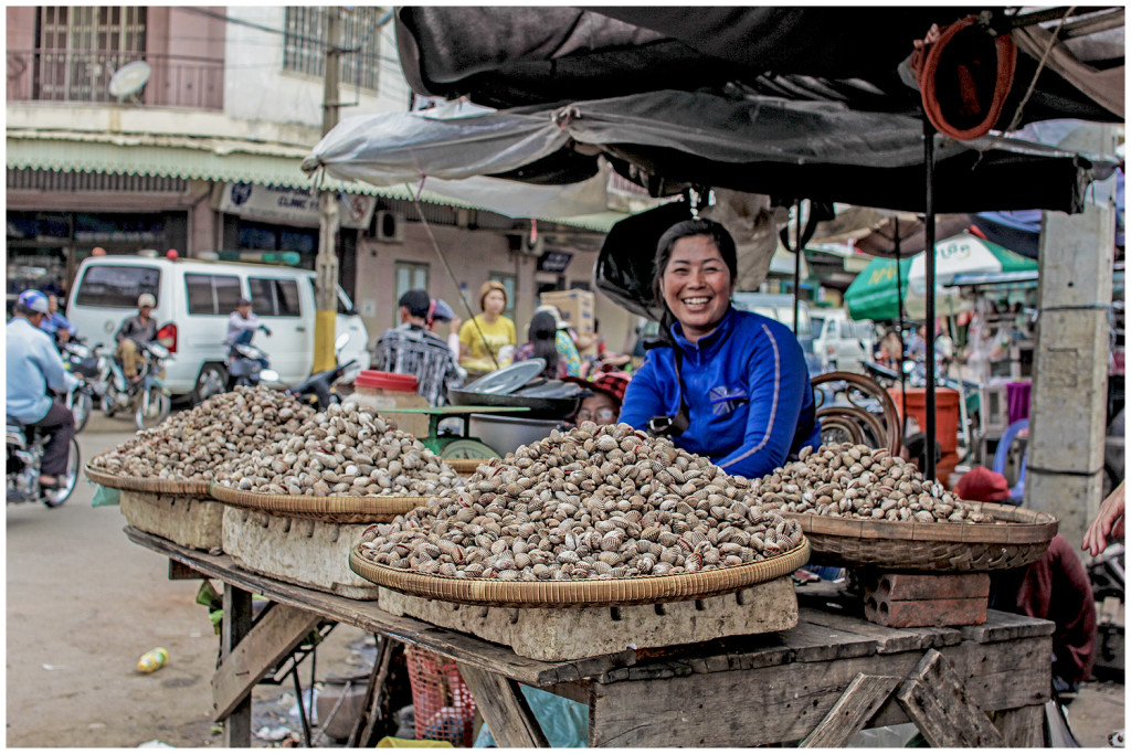 Woman at the market in Kampong Cham