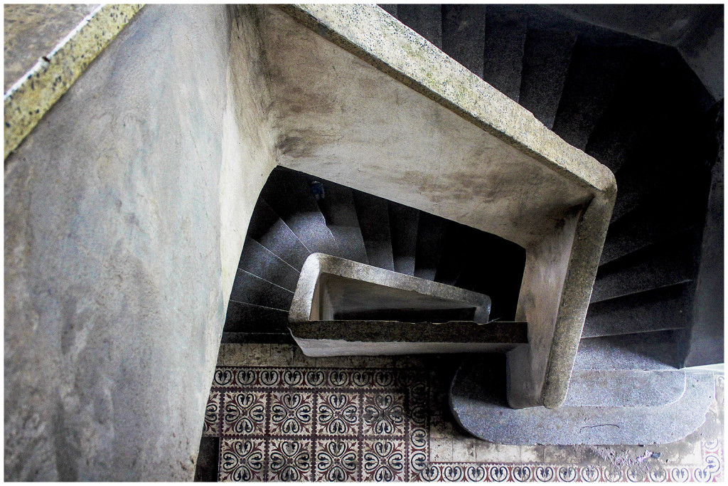 Bokor Hill hotel staircase